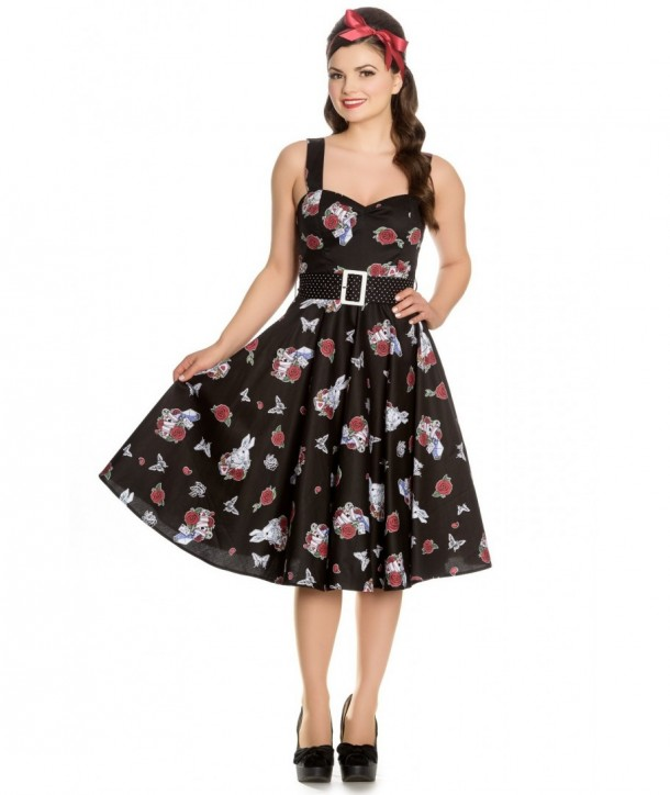 Robe Hell Bunny Drink Me 50'S