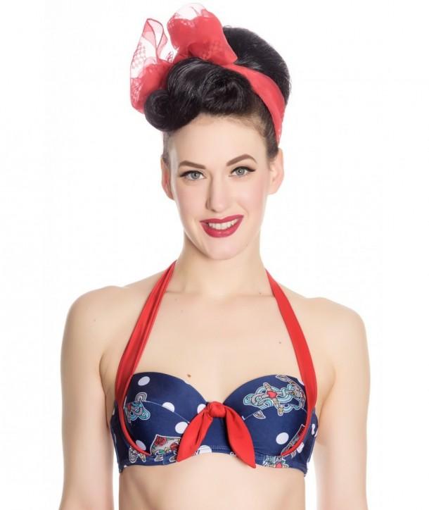 Maillot De Bain Hell Bunny St Tropez Bikini Top