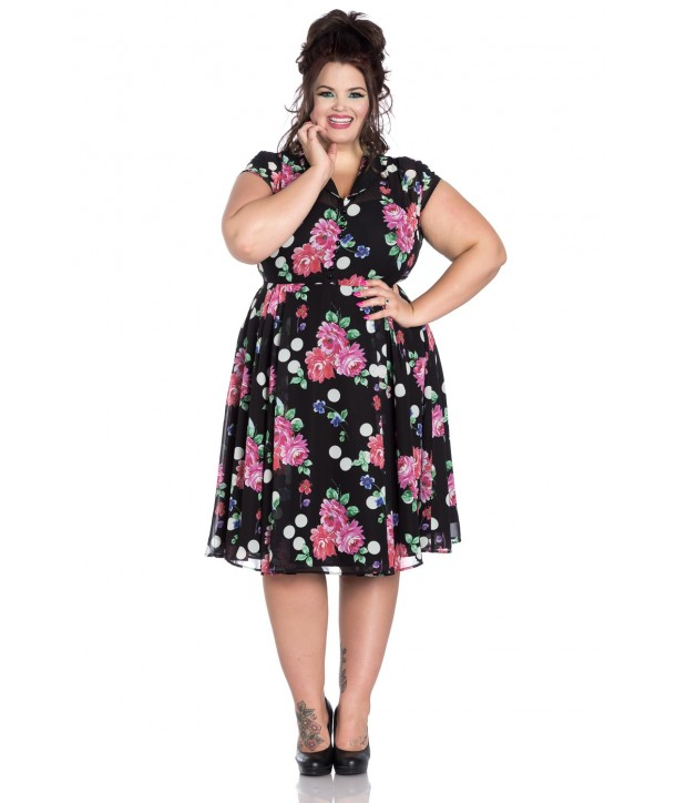 Robe Grande Taille Hell Bunny Bloomsbury 50s Dress