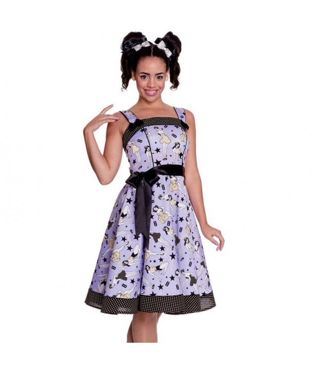 Robe Hell Bunny Dixie 50s Violet