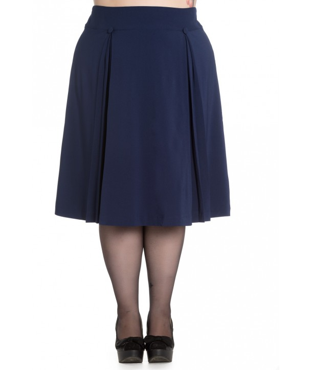 Jupe Grande Taille Hell Bunny Kennedy Bleu Marine