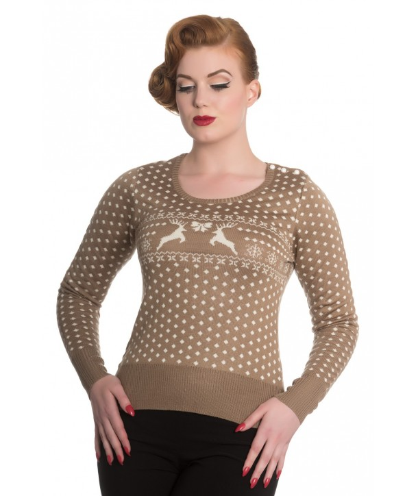 Pull Hell Bunny Belle Taupe