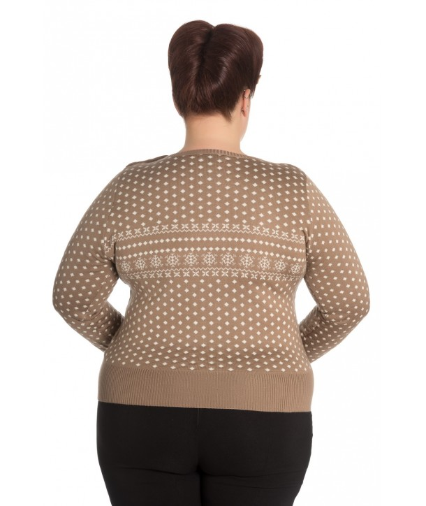 Pull Grande Taille Hell Bunny Belle Taupe