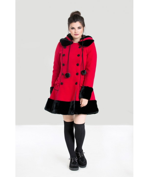 Manteau hiver Hell Bunny Sarah Jane Rouge