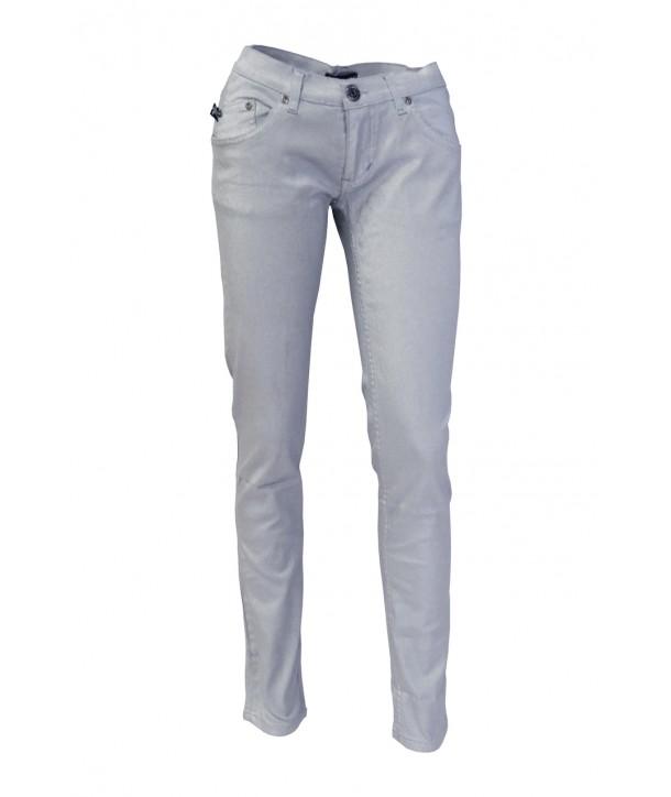 Slim Darkside Clothing Silver Metallic