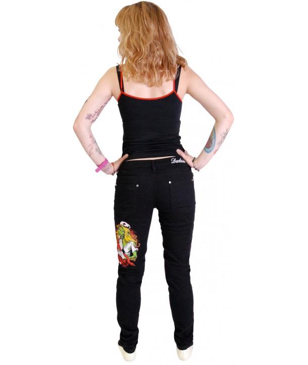 Pantalon Slim Darkside Clothing Nurse Low Rise