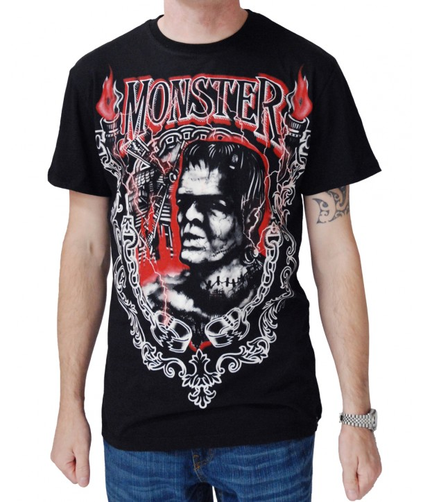 Tee Shirt Darkside Clothing Monster Frank T-Shirt