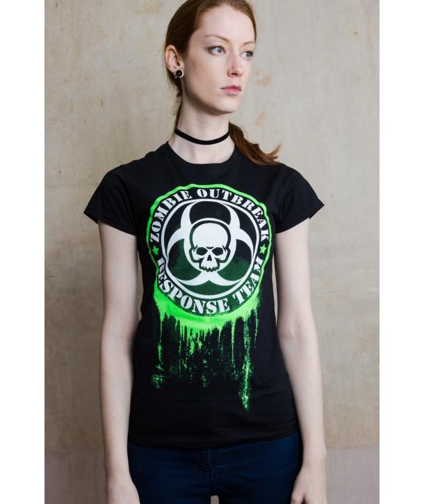 Tee Shirt Darkside Clothing Glow In The Dark Zombie Response