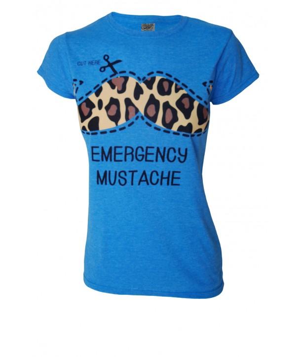 Tee Shirt Darkside Moustache Bleu