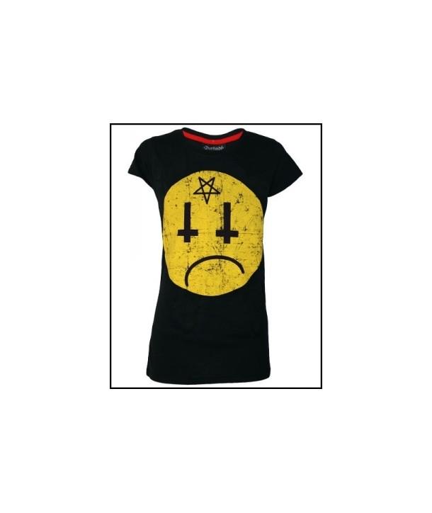 Tee Shirt Darkside Femme Satan Smiley