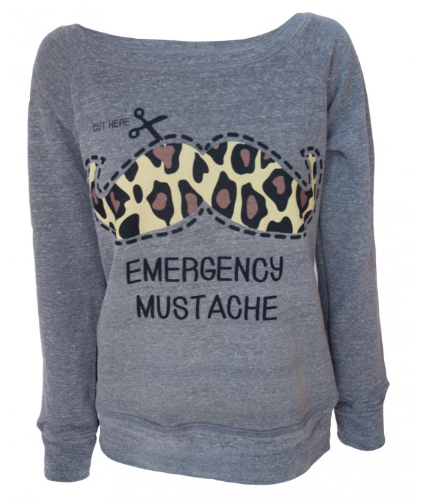 Pull Darkside Clothing Emergency Moustache Gris