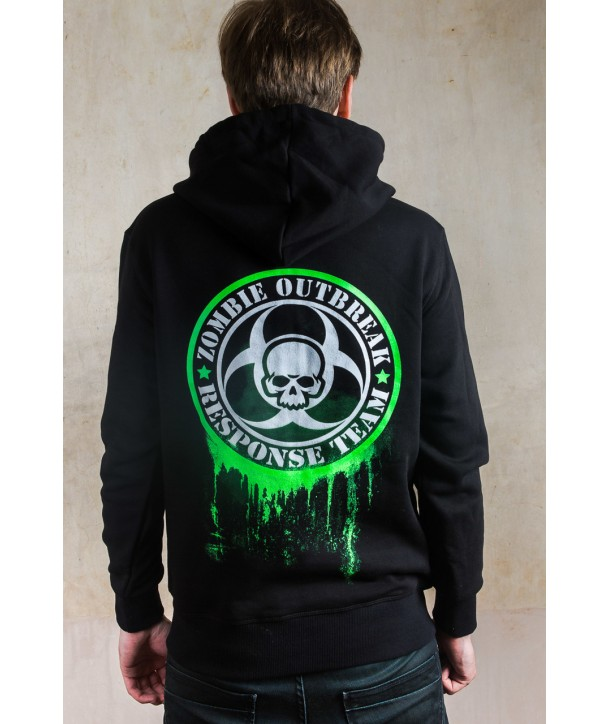 Sweat Shirt Darkside Clothing Zombie Response Glow In The Dark