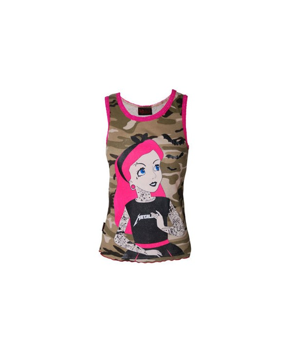 Debardeur Darkside Femme Tattoo Princess Camouflage