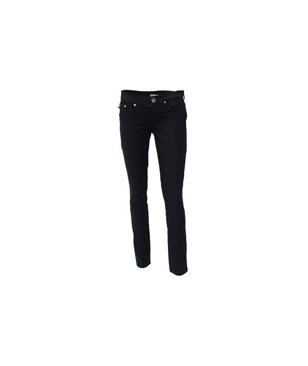Pantalon Slim Darkside Clothing Black Low Rise