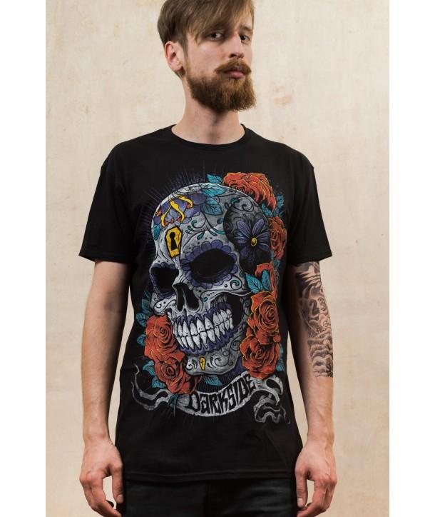 Tee Shirt Darkside Homme Mexican Sugar Skull