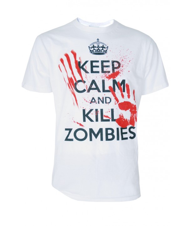 Tee Shirt Darkside Homme Keep Calm And Kill Zombies