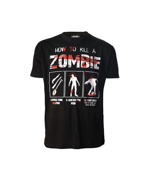 Tee Shirt Darkside Homme How To Kill A Zombie