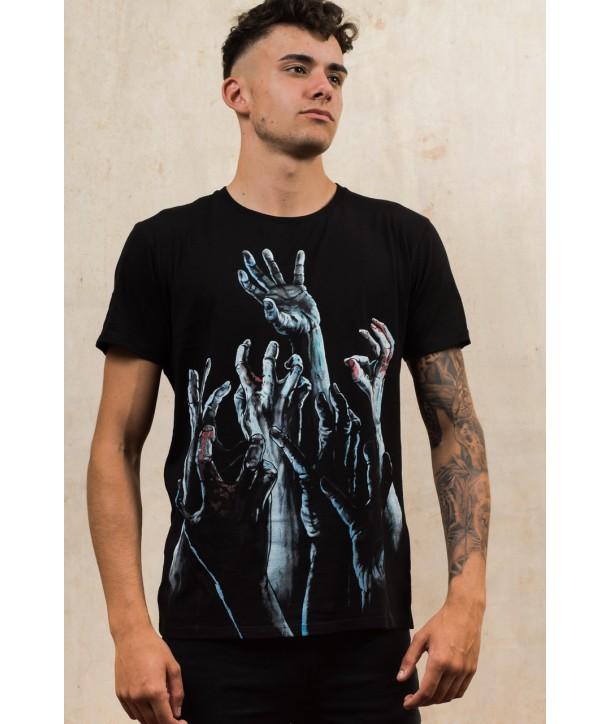 Tee Shirt Darkside Homme Zombie Hands