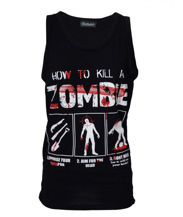 Debardeur Darkside Homme How To Kill A Zombie Noir
