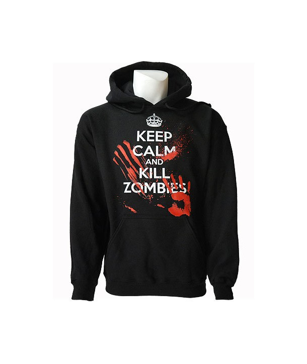 Sweat Shirt Darkside Homme Keep Calm Kill Zombies