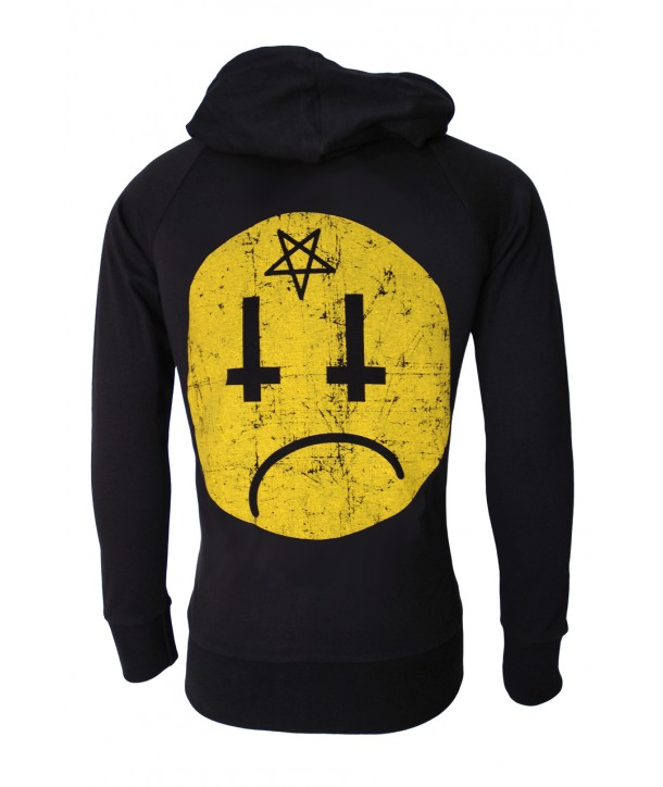Sweat Shirt Darkside Homme Satan Smiley