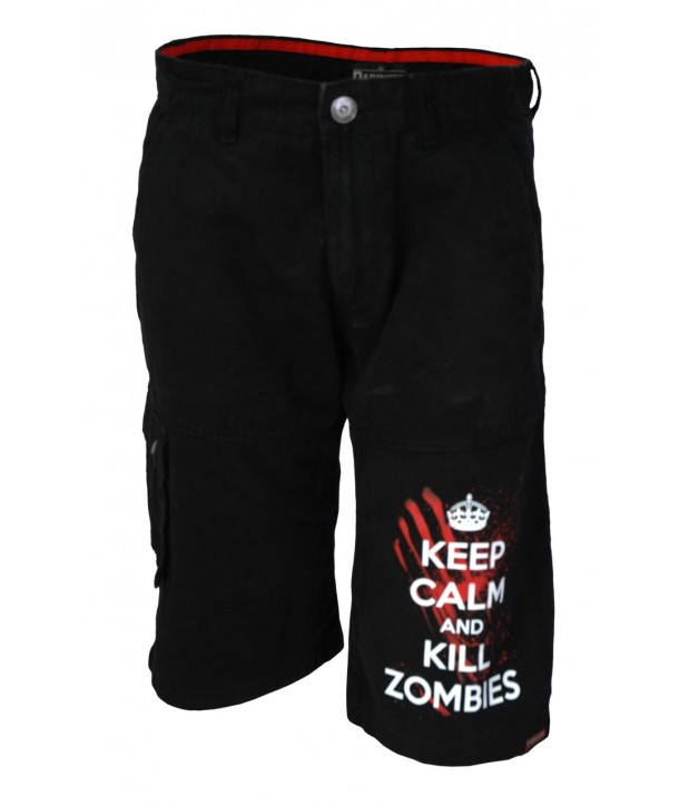 Short Darkside Homme Keep Calm Kill Zombies