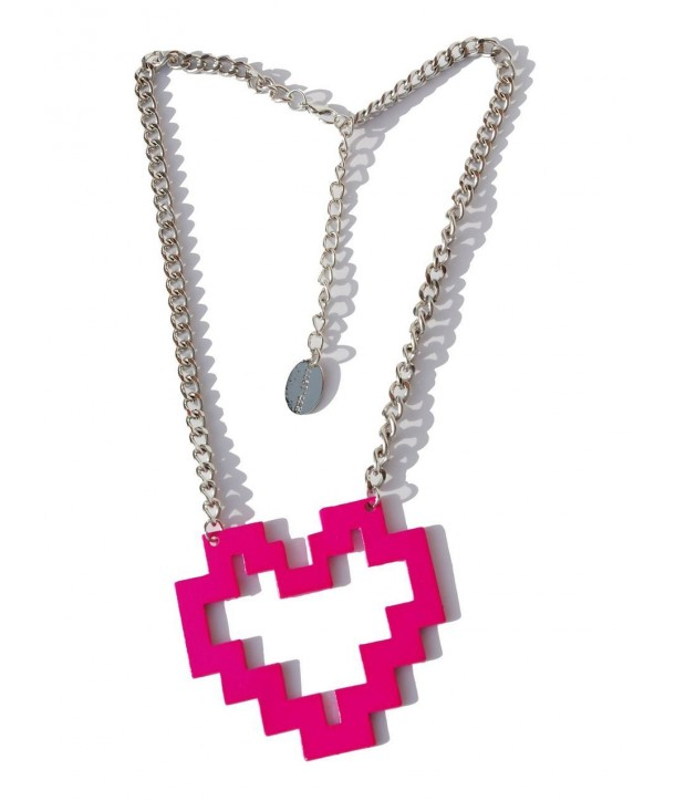 Collier Darkside Pink Pixel Heart