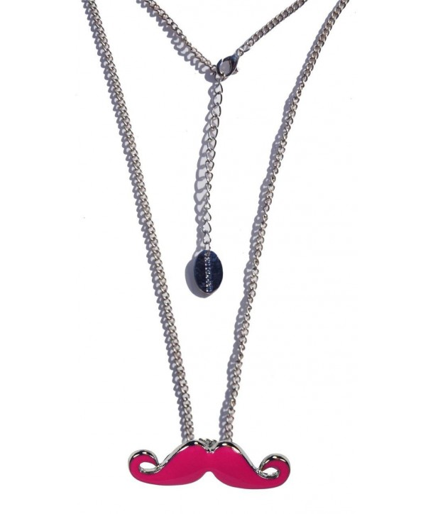 Collier Darkside Pink Moustache