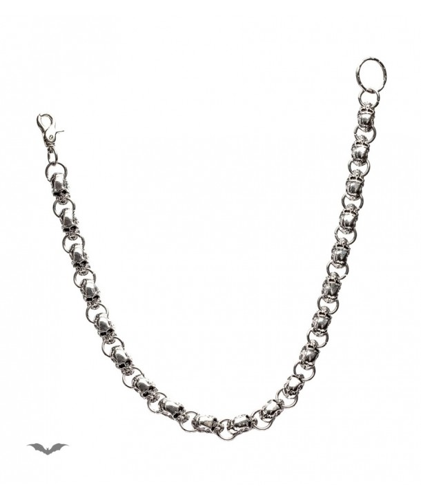 Chaine Queen Of Darkness Gothique Chain With Big Chrome Skulls