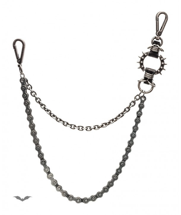 Chaine Queen Of Darkness Gothique Silver Key Chain Made Of 2 Chains