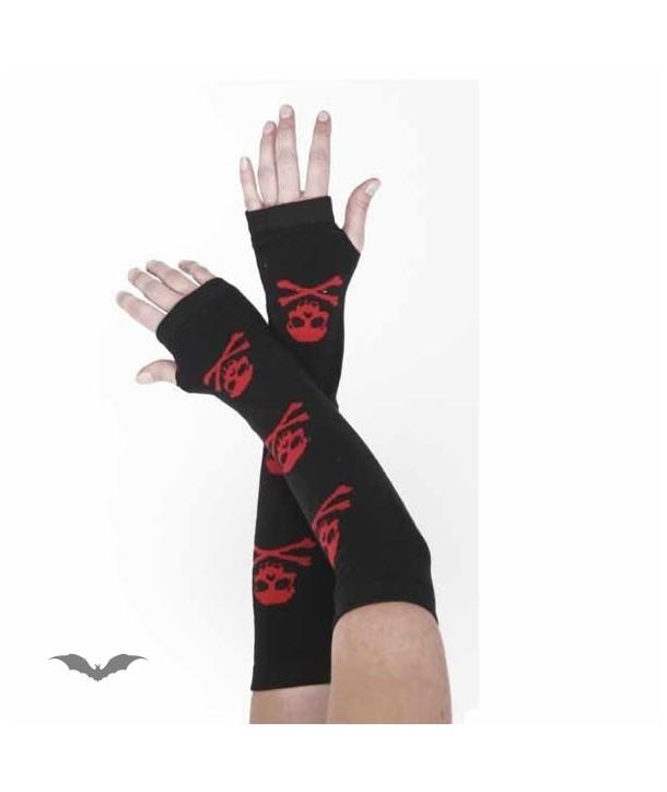 Gants Queen Of Darkness Gothique Black Arm Warmers. 3