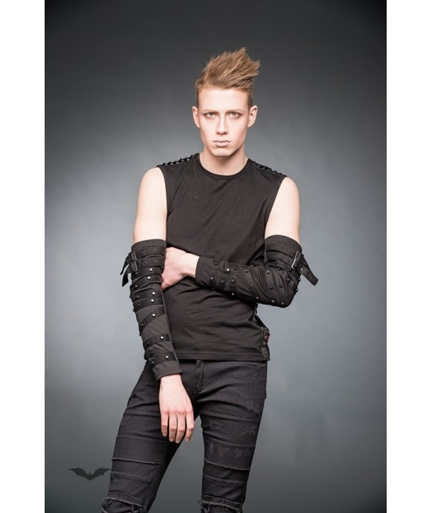 Gants Queen Of Darkness Gothique Arm Warmers With Buckles And Small Studs