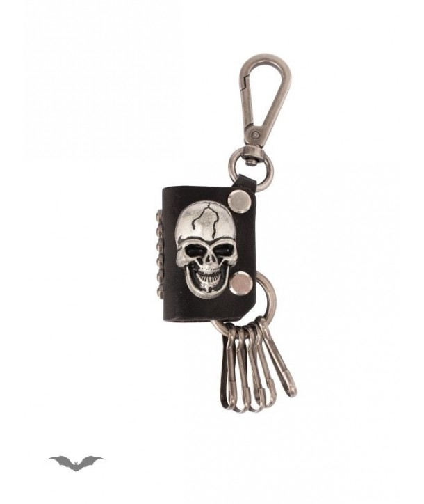 Porte Clés Queen Of Darkness Gothique Key Pendant With Carabiner And Skull