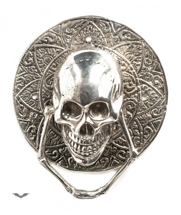 Home Déco Queen Of Darkness Gothique Silver Door Handle With Skull