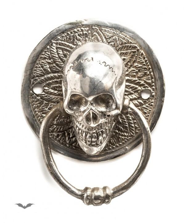 Home Déco Queen Of Darkness Gothique Small Round Door Handle Silver