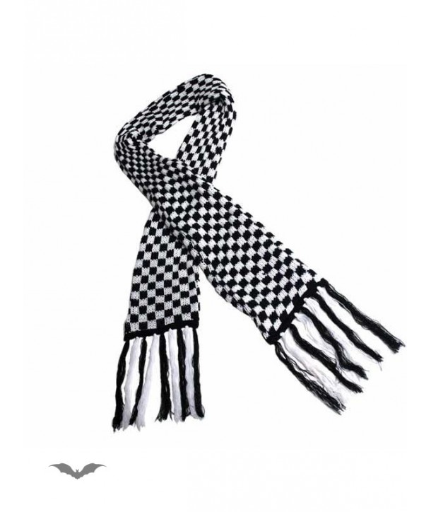 Echarpe Queen Of Darkness Gothique Black & White Chequered Scarf