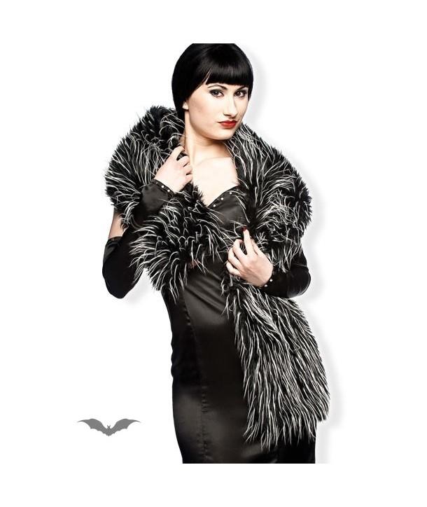 Echarpe Queen Of Darkness Gothique Furry Scarf