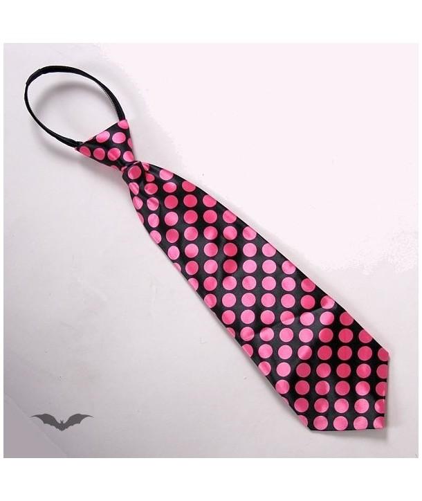 Cravatte Queen Of Darkness Gothique Tie Pink Dots