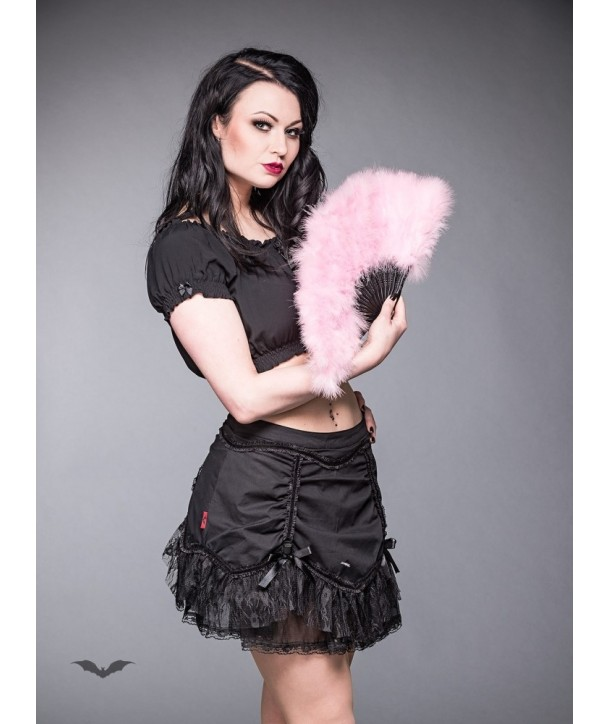 Eventaille Queen Of Darkness Gothique Pink Feather Fan