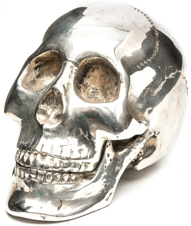 Deco Queen Of Darkness Gothique Metal Skull With Qod Logo