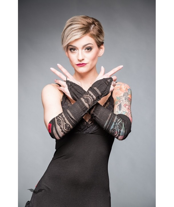 Gants Queen Of Darkness Gothique Pointy Lace Gloves