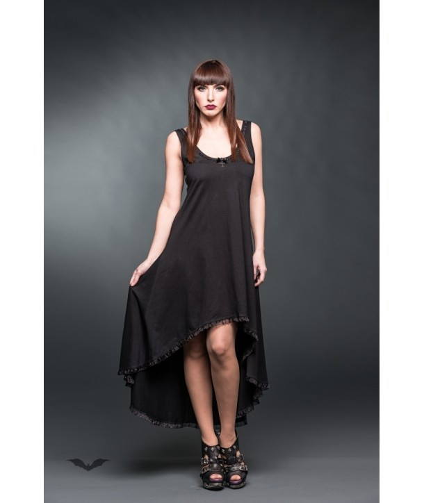 Robe Queen Of Darkness Gothique Long Dress With Lace On The Back