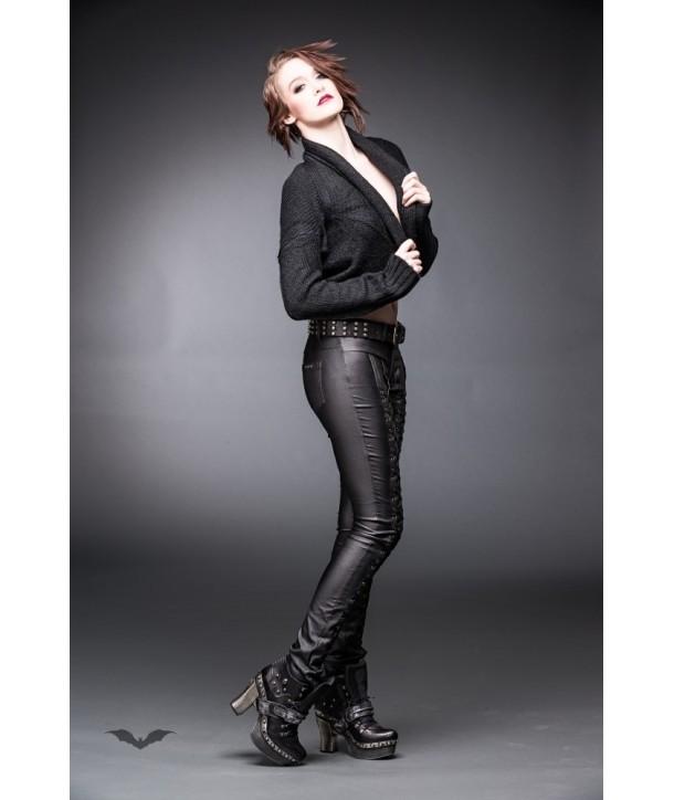 Veste Queen Of Darkness Gothique Black Knitted