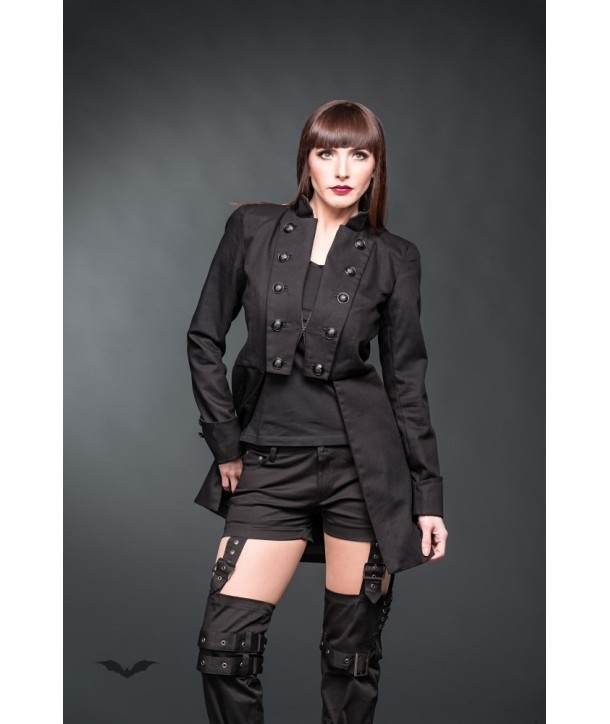 Manteau Queen Of Darkness Gothique Frock Coat With Black Buttons