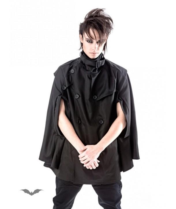 Veste Queen Of Darkness Gothique Black Unisex Cape Jacket