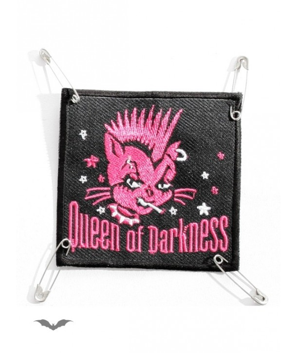 Patches Queen Of Darkness Gothique Patch: Smoking Pink Cat