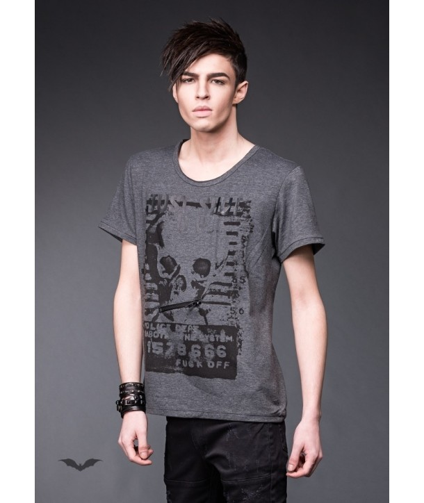 Tee -shirt Queen Of Darkness Homme Grey Shirt With Unique Print
