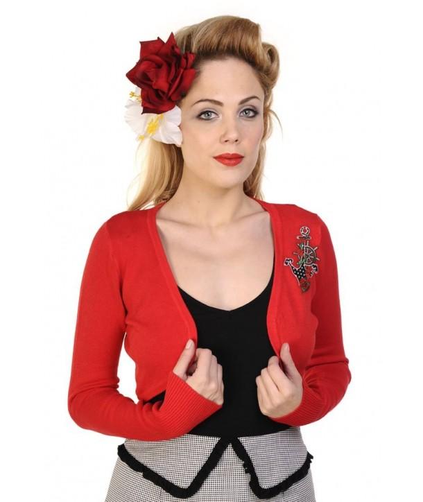 Boleros Banned Clothing Anchor Bolero Rouge