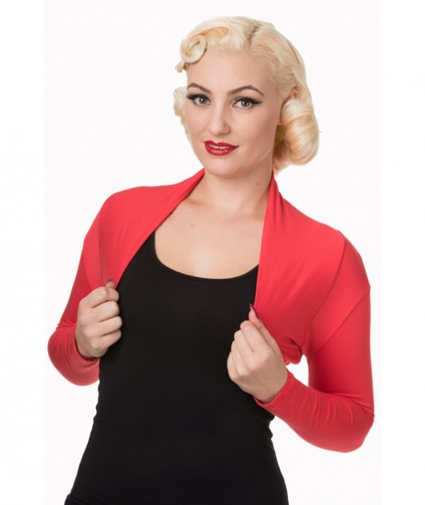 Boleros Banned Clothing Folded Bolero Rouge