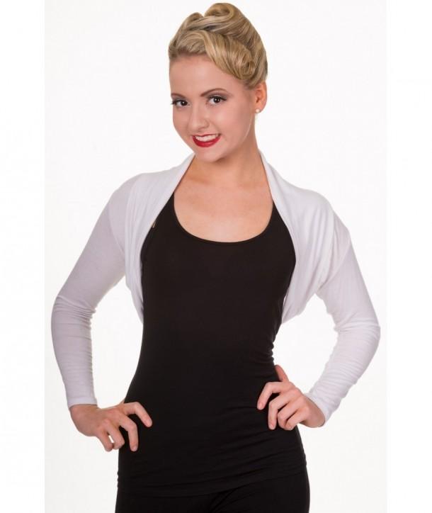 Boleros Banned Clothing Folded Blanc